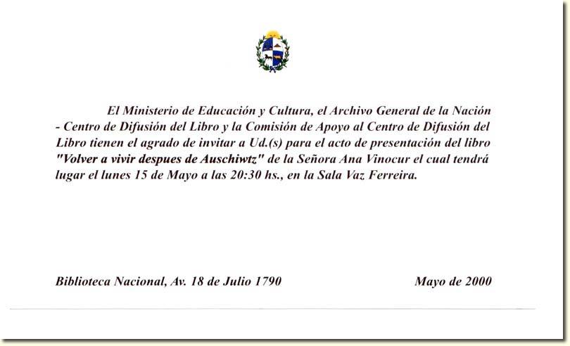 invitacion del ministerio de educacion y cultura de uruguay y del